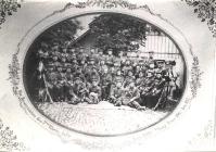 Die Reservisten des 7ten Rheinischen Infantrie Regiments Nr 69, 7te Kompanie Trier 1868 - 1871 Auf dem Foto Philipp Fries