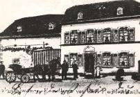 Eine Zeichnung von der Kolonialwarenhandlung von Karl Reidenbach aus dem Jahre 1910