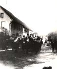 Kriegervereinskapelle bei der Beerdigung von Philipp Fries 1924  Veteran 1870-1871